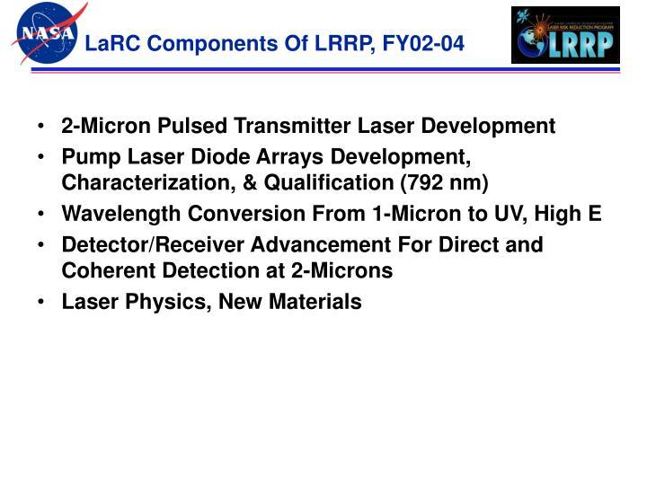 LaRC Components Of LRRP, FY02-04