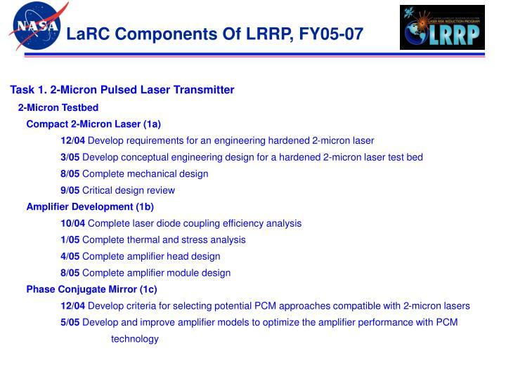 LaRC Components Of LRRP, FY05-07