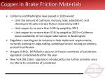 copper in brake friction materials