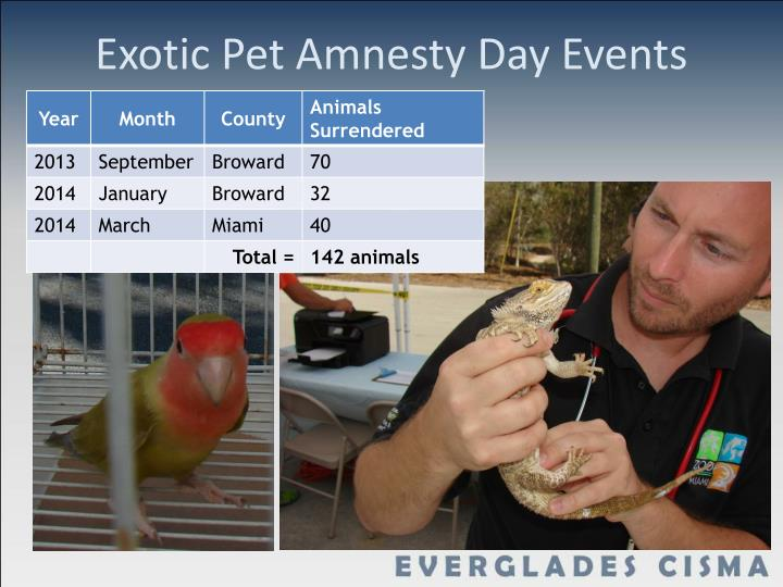 Exotic Pet Amnesty Day Events