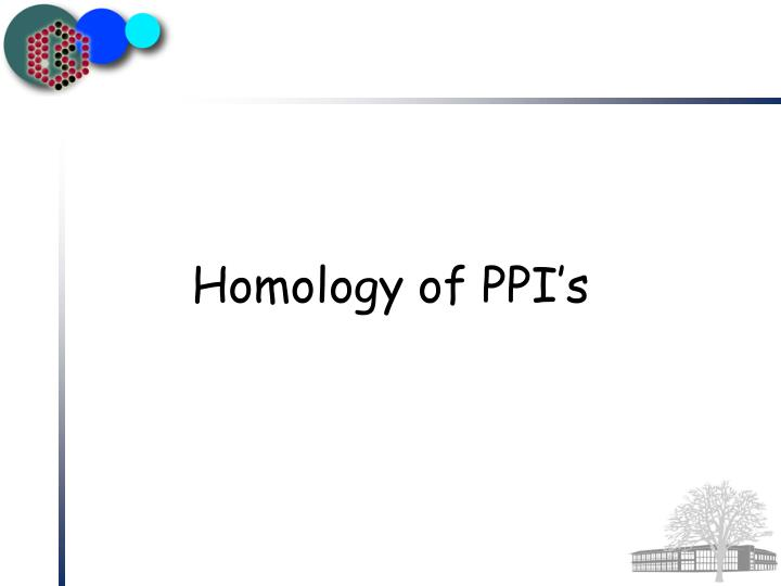 Homology of PPI's