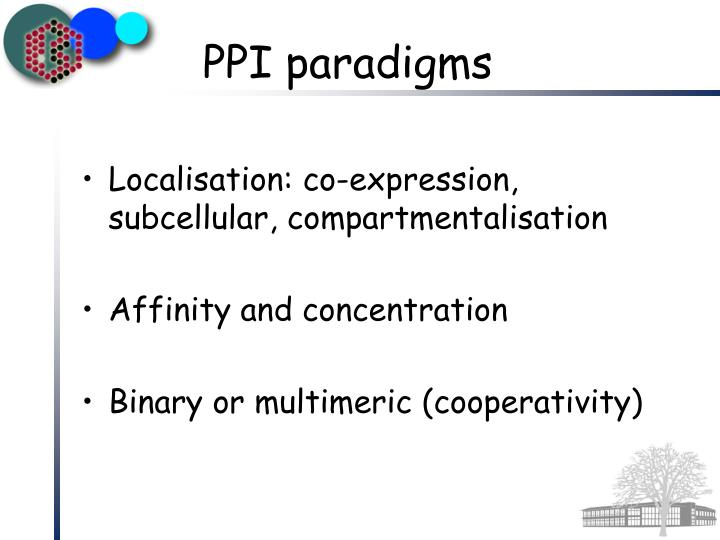 Localisation: co-expression, subcellular, compartmentalisation