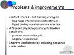 problems improvements