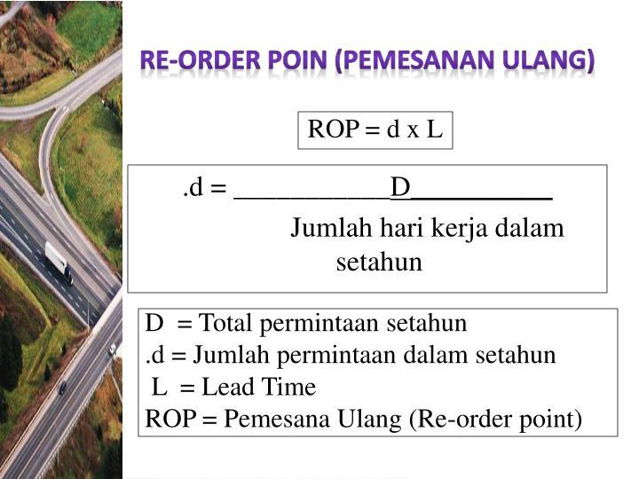RE-ORDER POIN (PEMESANAN ULANG)