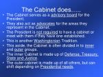 the cabinet does