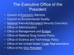 the executive office of the president