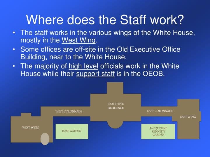 Where does the Staff work?
