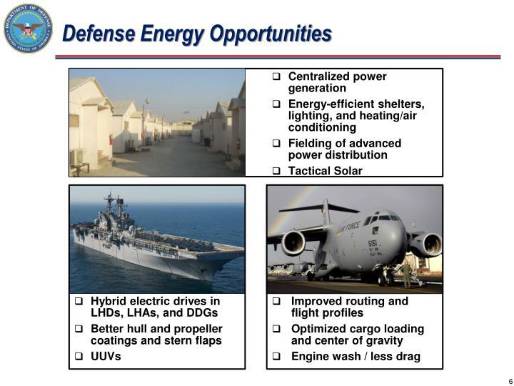 Defense Energy Opportunities