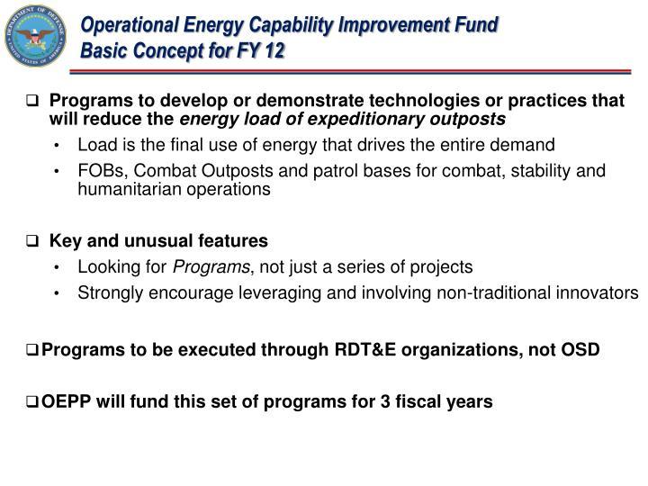 Operational Energy Capability Improvement Fund