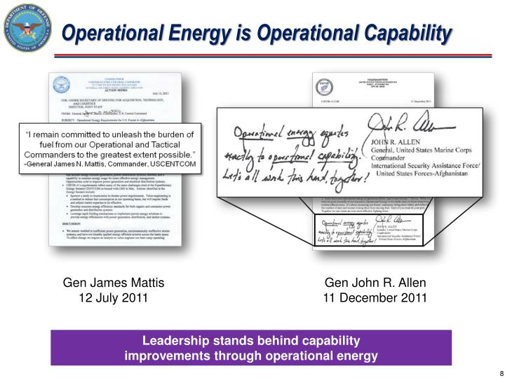 Operational Energy is Operational Capability