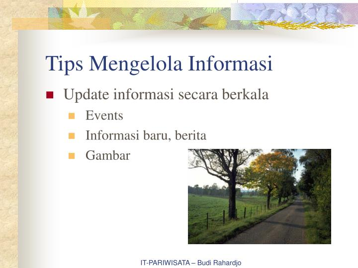 Tips Mengelola Informasi