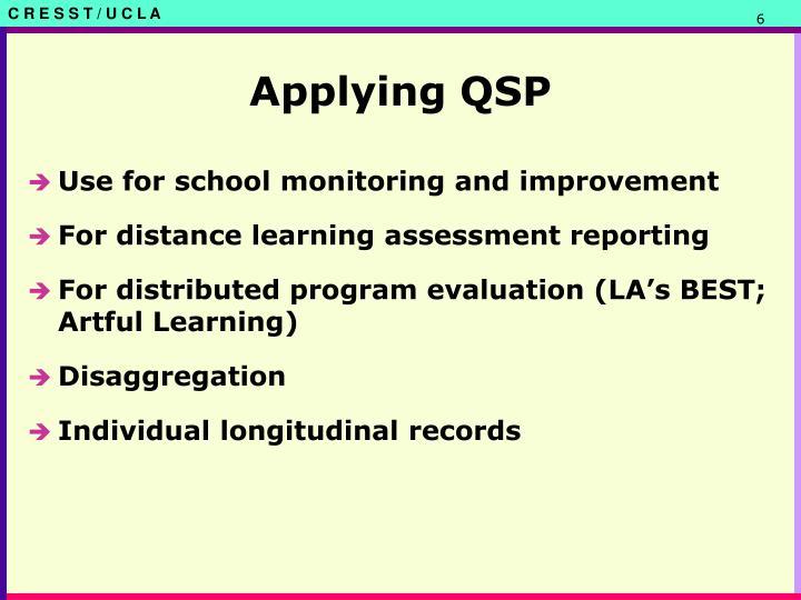 Applying QSP