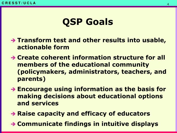 QSP Goals