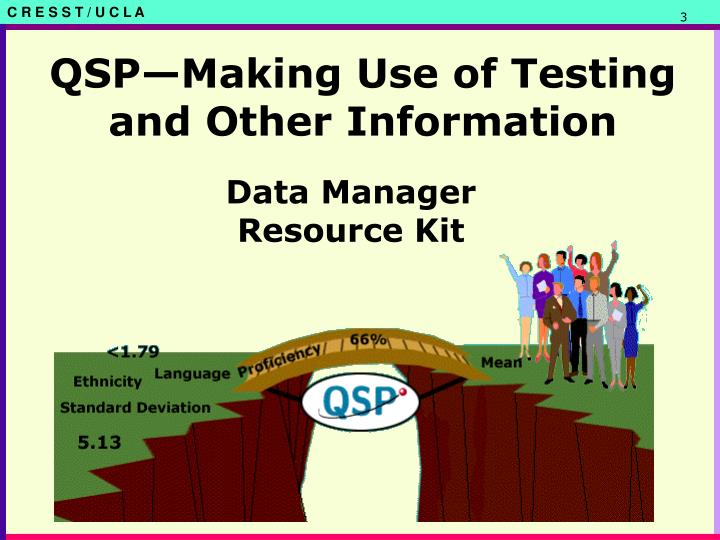 Qsp making use of testing and other information