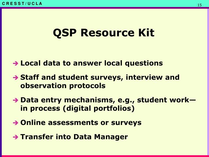 QSP Resource Kit