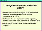 the quality school portfolio qsp