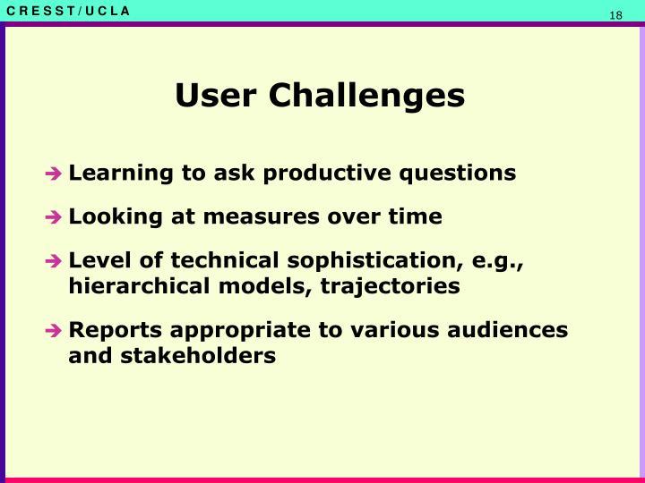 User Challenges