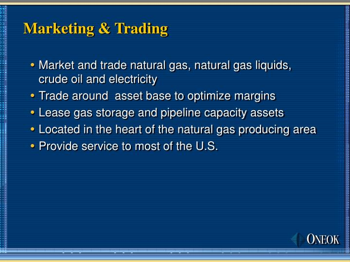 Marketing & Trading