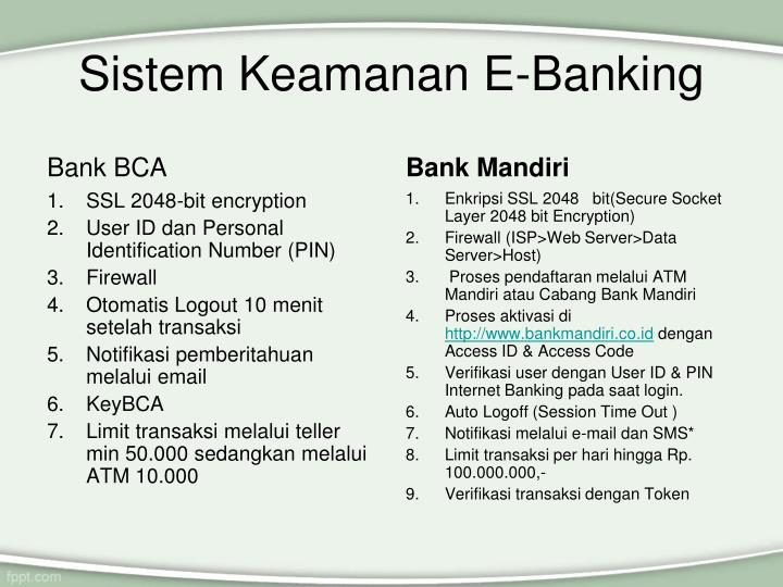 Sistem Keamanan E-Banking