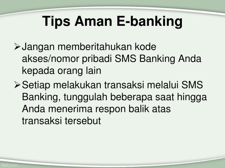 Tips Aman E-banking