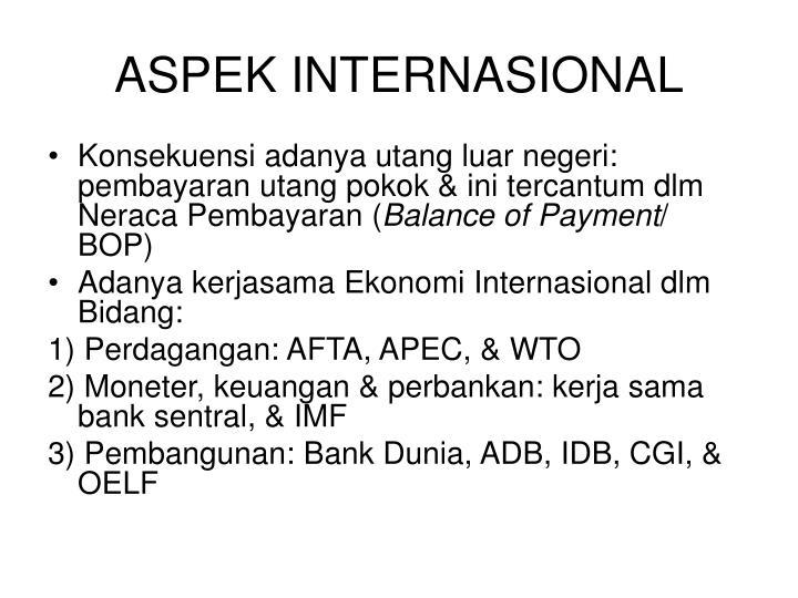 ASPEK INTERNASIONAL