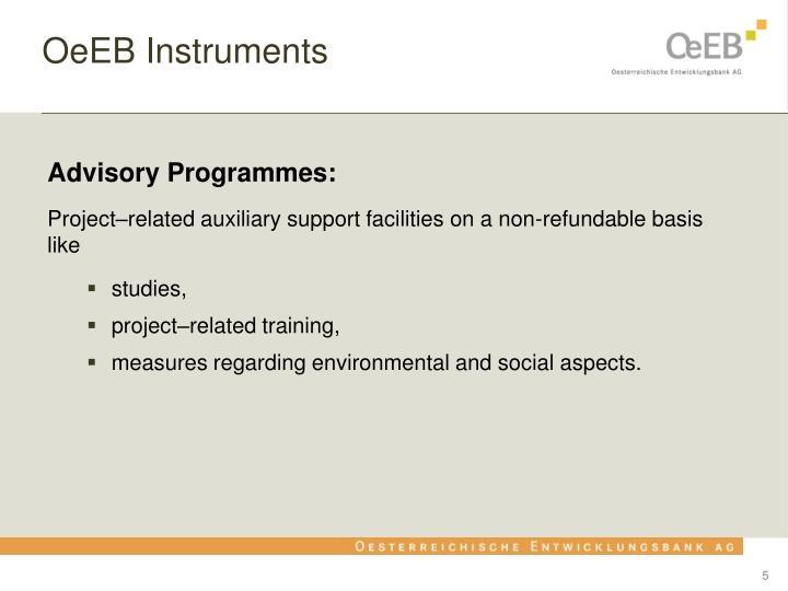 OeEB Instruments