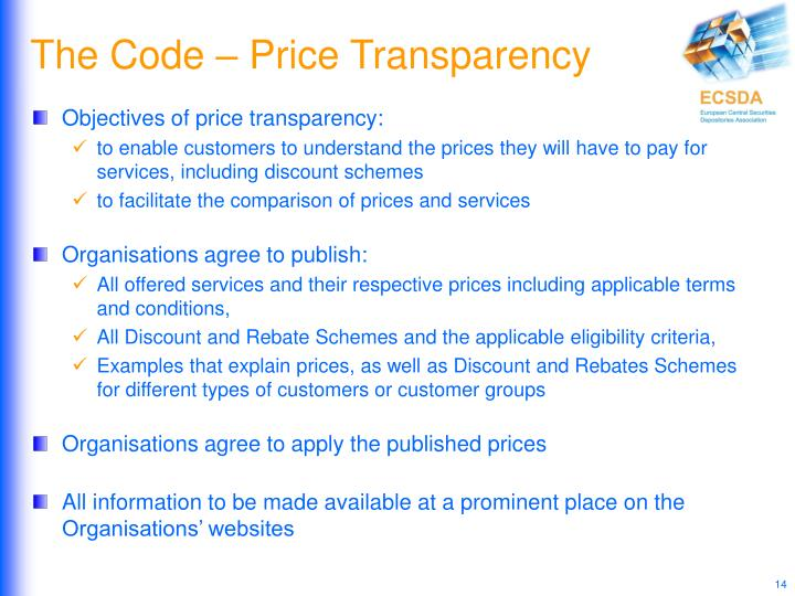 The Code – Price Transparency
