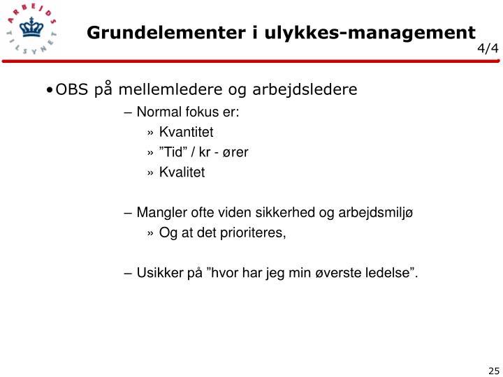 OBS på mellemledere og arbejdsledere