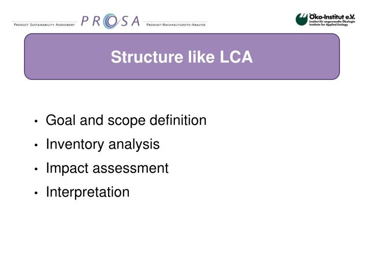 Structure like LCA