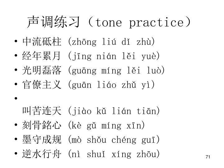 声调练习(
