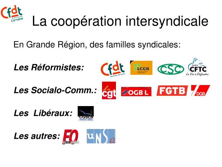La coopération intersyndicale