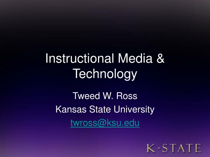Instructional media technology