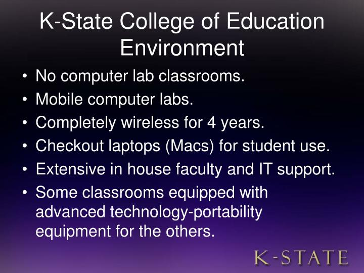 K-State College of Education Environment