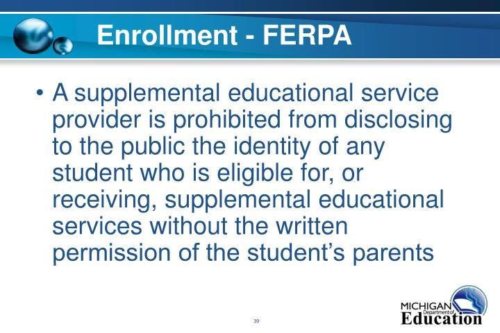 Enrollment - FERPA