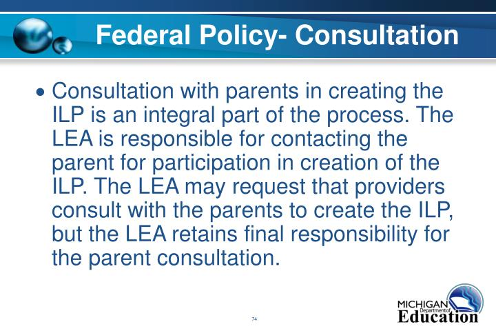 Federal Policy- Consultation