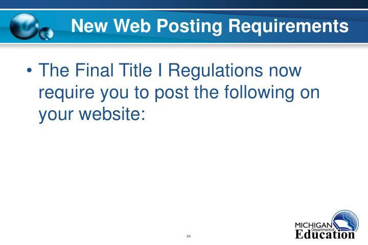 New Web Posting Requirements