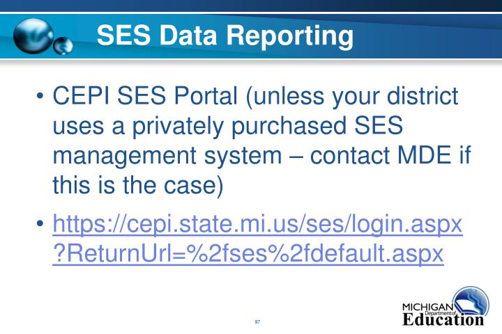 SES Data Reporting