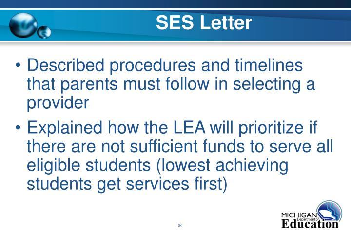 SES Letter