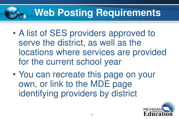 Web Posting Requirements