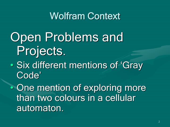 Wolfram Context