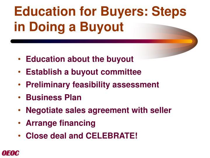 Business plan buyout