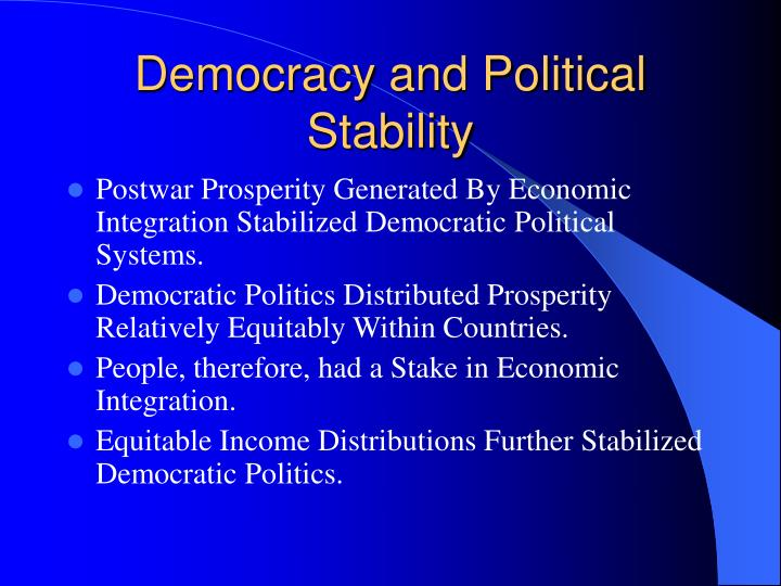 Democracy and Political Stability