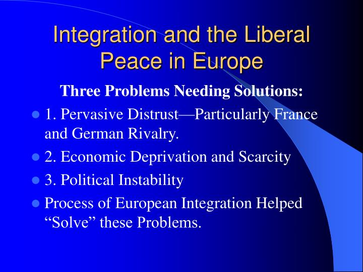 Integration and the Liberal Peace in Europe