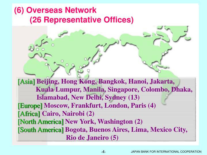 (6) Overseas Network