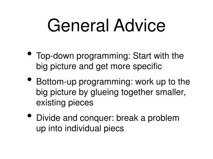 General Advice