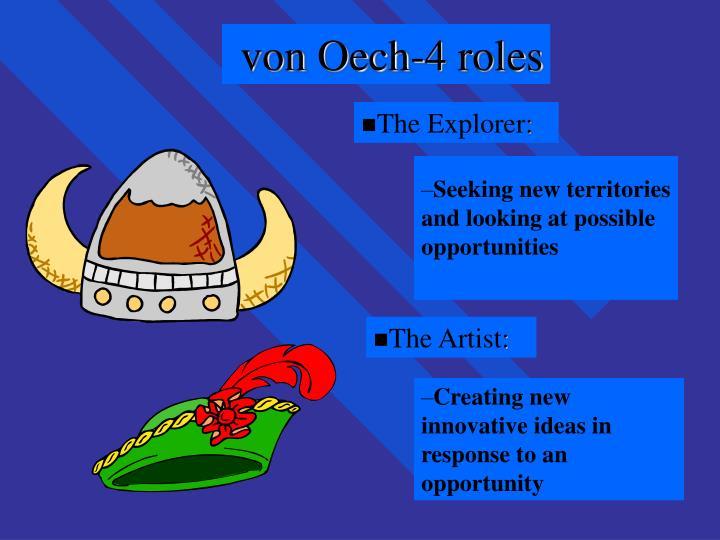 von Oech-4 roles