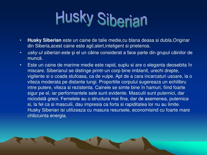 husky ppt Siberian husky scientific name: canis lupus familiaris   we found that there is no scientific name for siberian husky, so we are using the scientific name for dog .