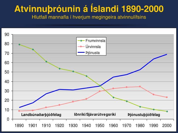 Atvinnuþróunin á Íslandi 1890-2000