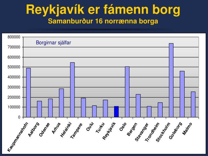 Reykjavík er fámenn borg