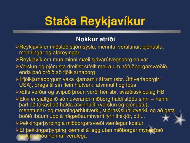 Staða Reykjavíkur